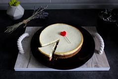 Gâteau au fromage succulent images stock