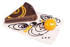 Gâteau au goût âpre de chocco orange Image stock