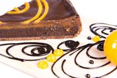 Gâteau au goût âpre de chocco orange Photographie stock