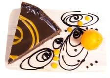 Gâteau au goût âpre de chocco orange Photos stock