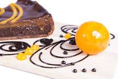 Gâteau au goût âpre de chocco orange Images stock