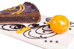 Gâteau au goût âpre de chocco orange Photo stock