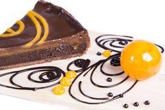 Gâteau au goût âpre de chocolat orange Photo stock