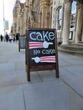 Gâteau, aucun signe de gâteau Photographie stock libre de droits