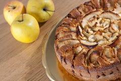 Gâteau aux pommes Photographie stock libre de droits
