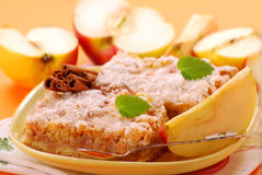 Gâteau aux pommes Avec de la cannelle Image stock