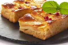 Gâteau aux pommes avec des baies de forêt Images libres de droits