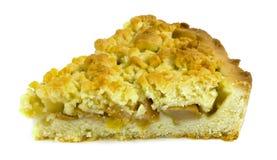 Gâteau aux pommes d'isolement sur le fond blanc Image libre de droits