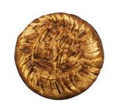 Gâteau aux pommes fraîchement cuit au four Photo stock
