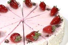 Gâteau avec de la crème Photos stock