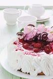 Gâteau avec de la crème Photo stock