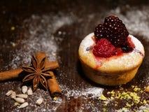 Gâteau avec des blackfruits Photos stock