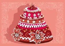 Gâteau avec des cerises Image libre de droits