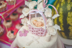 Gâteau avec des décorations Image stock