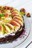 Gâteau avec des figues Photographie stock libre de droits