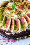 Gâteau avec des figues Photos libres de droits