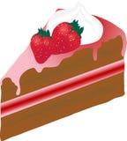 Gâteau avec des fraises Photos libres de droits