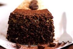 Gâteau avec des grains de café images libres de droits