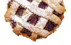 Gâteau avec des prunes Photographie stock