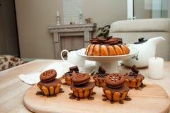 Gâteau avec du chocolat Image stock