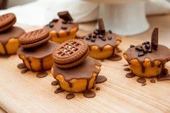 Gâteau avec du chocolat Photographie stock libre de droits