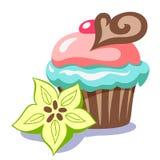 Gâteau avec du chocolat Photographie stock