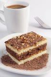 Gâteau avec du chocolat et le café Image libre de droits