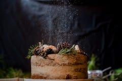 Gâteau avec du sucre images stock