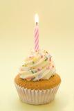Gâteau avec la bougie Photographie stock libre de droits