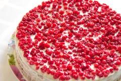 Gâteau avec la groseille rouge Photo libre de droits
