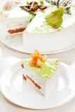 Gâteau avec la pistache Photo libre de droits