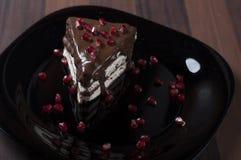 Gâteau avec le chocholate et le pomenarange Photographie stock