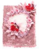 Gâteau avec le coeur Images stock