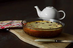 Gâteau avec le fromage blanc Images stock