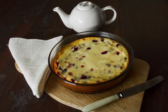 Gâteau avec le fromage blanc Image libre de droits