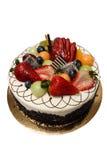 Gâteau avec le fruit images libres de droits