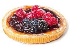 Gâteau avec le fruit et la gelée. images stock