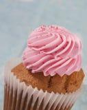Gâteau avec le givrage et les spinkles roses Images libres de droits