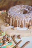 Gâteau avec le hazelnutz Photo libre de droits