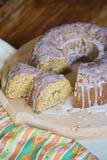 Gâteau avec le hazelnutz Photographie stock