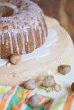 Gâteau avec le hazelnutz Image libre de droits