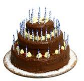 Gâteau avec le numéro 50 photographie stock