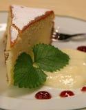 Gâteau avec le pudding Images stock