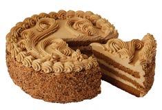 Gâteau avec une part images libres de droits