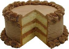 Gâteau blanc Photographie stock libre de droits