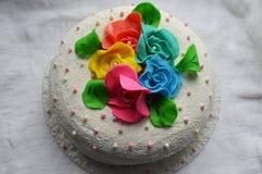 Gâteau blanc Images stock