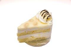 Gâteau blanc de macadamia de chocolat Images libres de droits