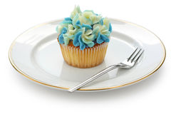 Gâteau bleu de hortensia Photo stock