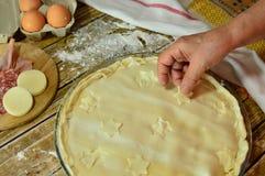Gâteau bourré salé fait par la grand-mère italienne Image stock
