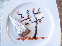 Gâteau caprese italien Image libre de droits